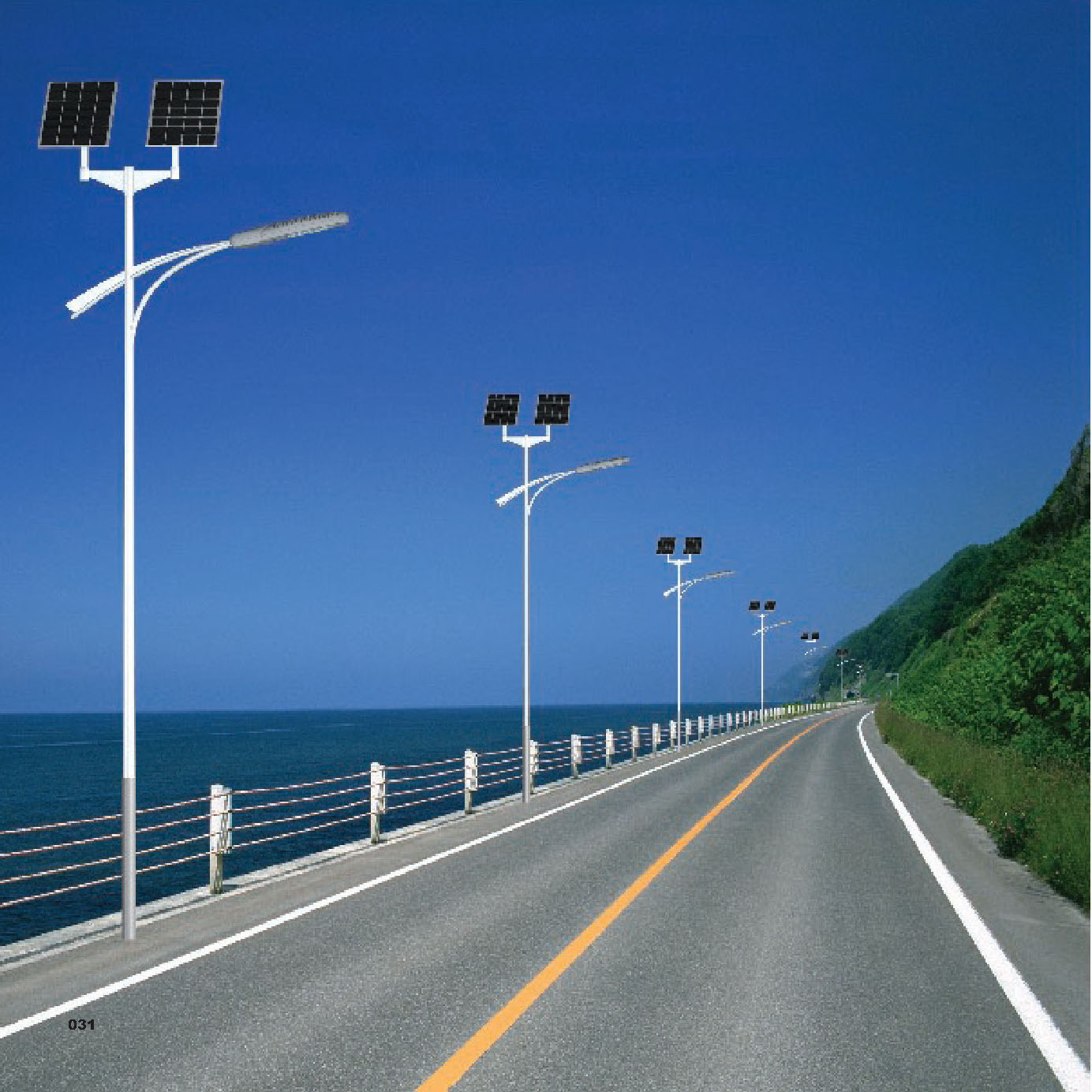 Solar System Solar Led Street Light 6m 20w Solar