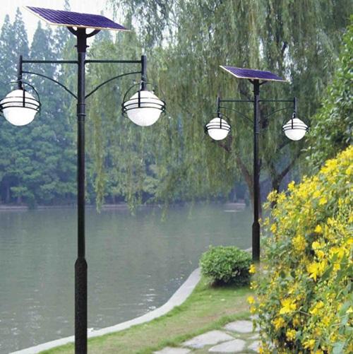 3m 7w Double Lamps Solar Led Garden Light